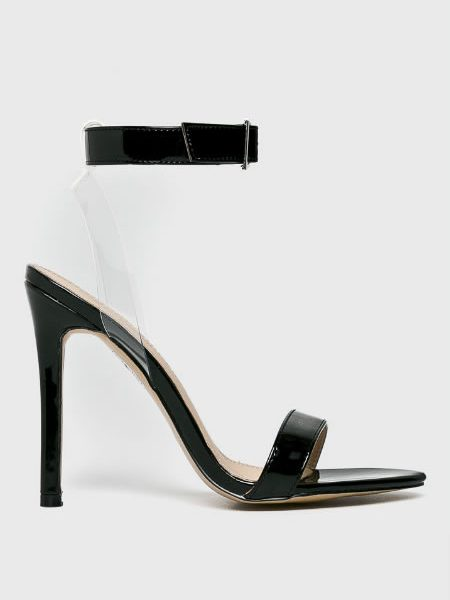 Sandale Transparente Cu Toc