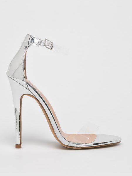Sandale Transparente Metalice