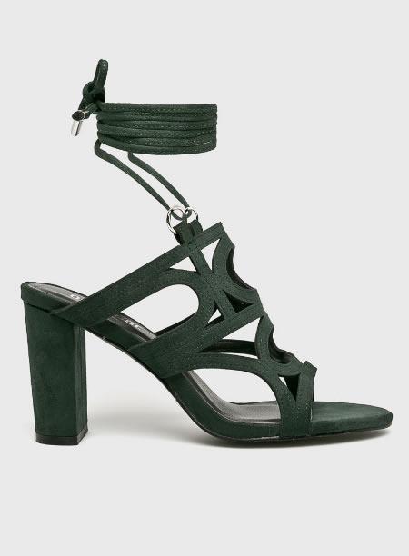 Sandale Verzi Cu Siret