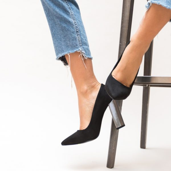 Pantofi Cu Toc Gros Inalt