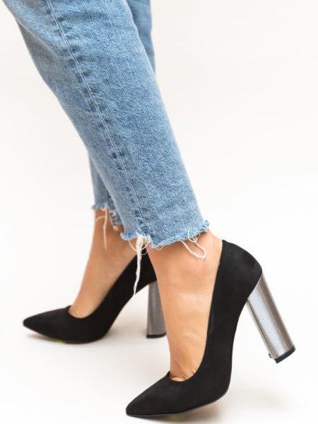 Pantofi Dama Cu Toc Gros Inalt