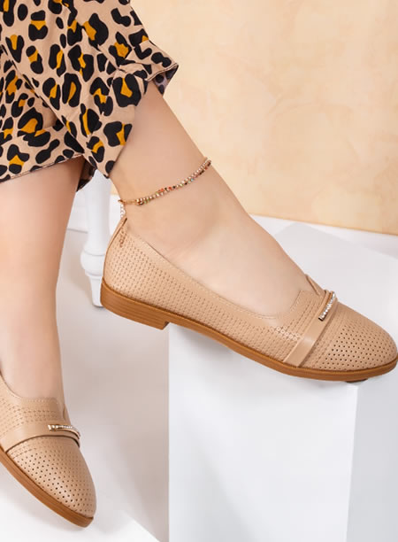 Balerini Dama Tip Bej Pantof