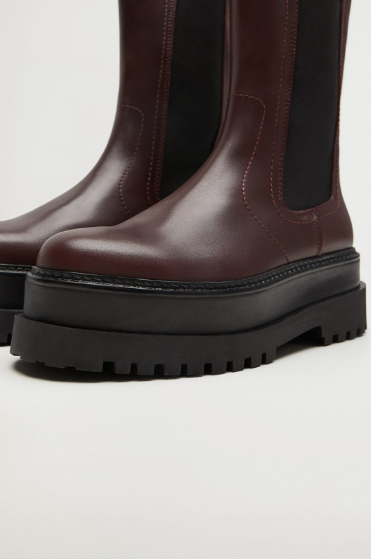 Ghete Dama Piele Cu Platforma, Cizme Dama Cu Platforma Groasa Din Piele, Chelsea Boots Bottega Veneta